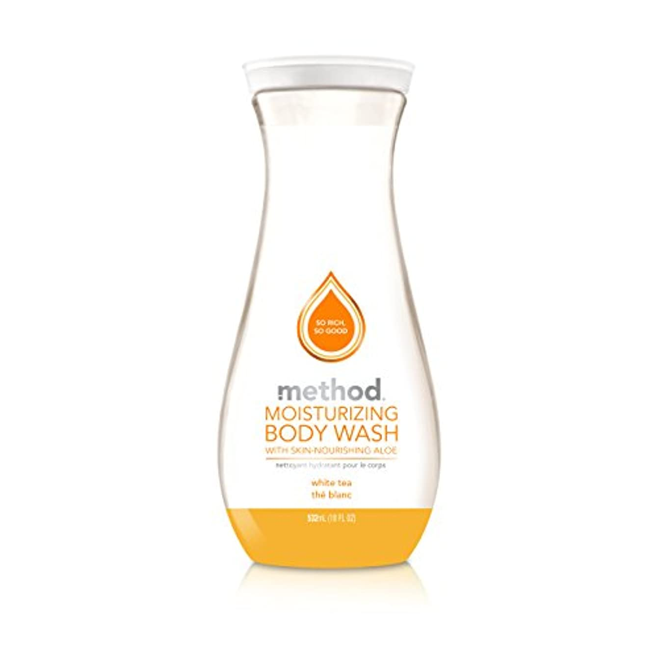 ひまわり策定する受け入れるMethod Pure Naked Moisturizing Body Wash, White Tea, 18 Ounce (Packaging may vary) by Method