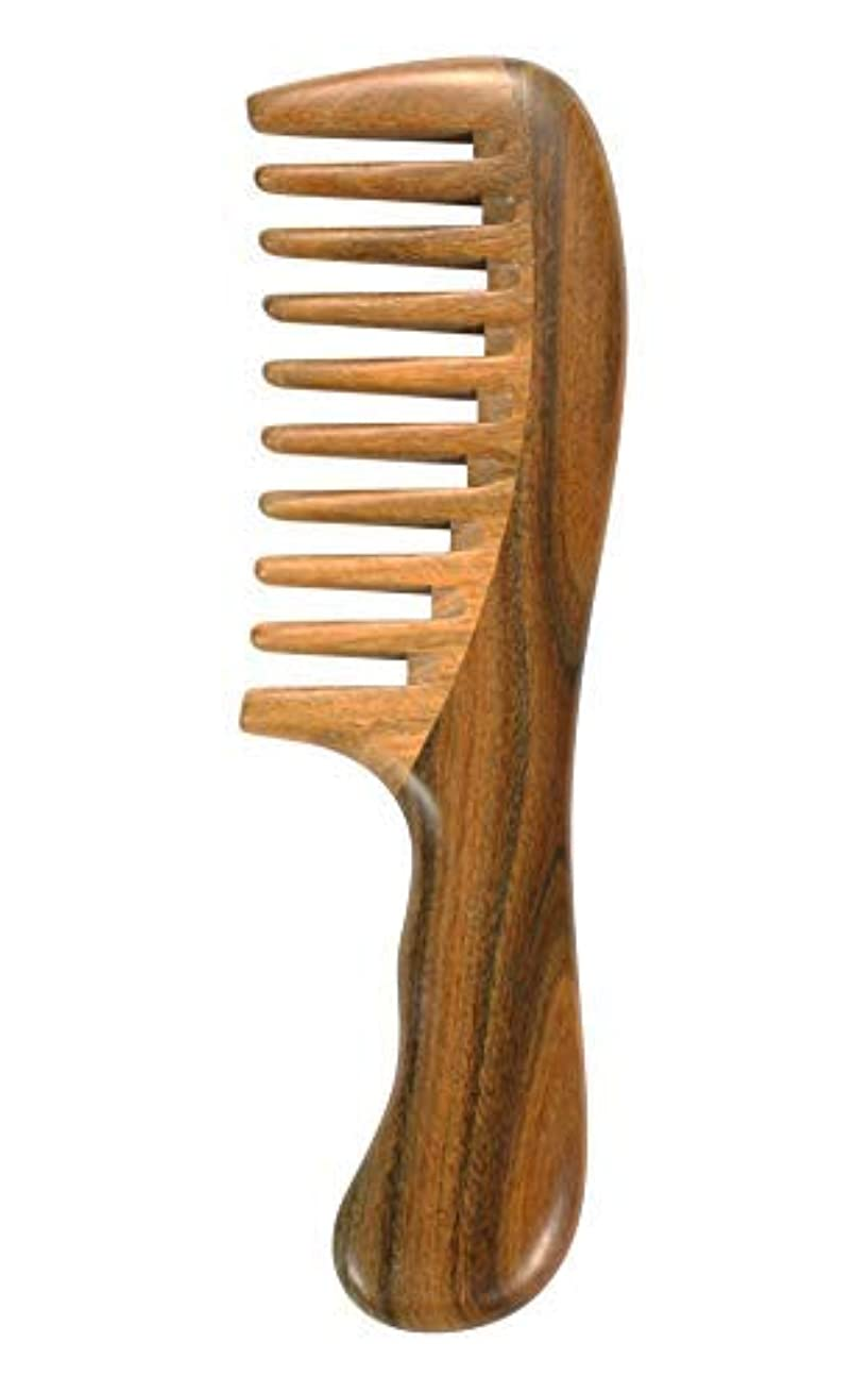 Louise Maelys Wooden Wide Tooth Hair Comb for Curly Hair Sandalwood Detangling Hair Comb [並行輸入品]