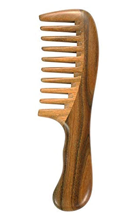 出くわすおとなしい再びLouise Maelys Wooden Wide Tooth Hair Comb for Curly Hair Sandalwood Detangling Hair Comb [並行輸入品]