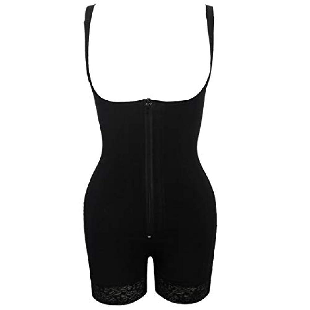 君主記念碑筋肉のプラグサイズ女性スリムアンダーウェアボディスーツシェイプウェアレディーアンダーバストボディシェイパー ランジェリープラスサイズウエストトレーナー-ブラックS