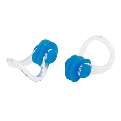 ノーズクリップ 泳ぐ鼻クリップ 鼻プロテクター プラスチック製 クリア ブルー ラバー 2個入り