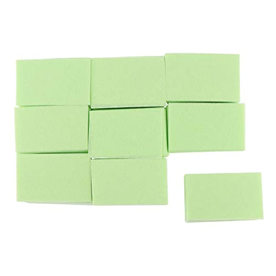 修羅場促す午後プレミアムメイクアップフェイシャルソフトコットンスクエア、化粧品、ネイルアート、パーソナルケアに適しています、700カウント、6x3.6cm - 緑