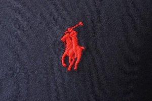 (ポロ ラルフローレン)POLO Ralph Lauren 半袖 Tシャツ ワンポイント メンズ クルーネック ネイビー×レッド M [並行輸入品]