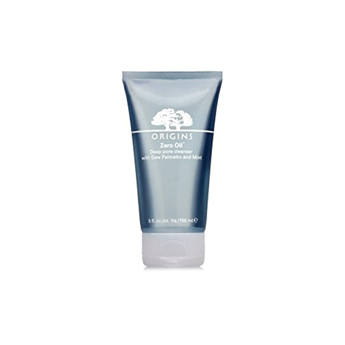 Origins Zero Oil Deep Pore Cleanser With Saw Palmetto & Mint 150ml (Pack of 6) - ノコギリヤシ&ミント150ミリリットルとの起源ゼロ油深いポアクレンザー...