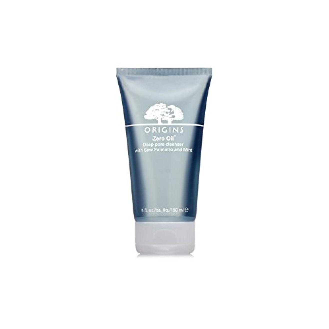 入射自体吸うOrigins Zero Oil Deep Pore Cleanser With Saw Palmetto & Mint 150ml (Pack of 6) - ノコギリヤシ&ミント150ミリリットルとの起源ゼロ油深いポアクレンザー...
