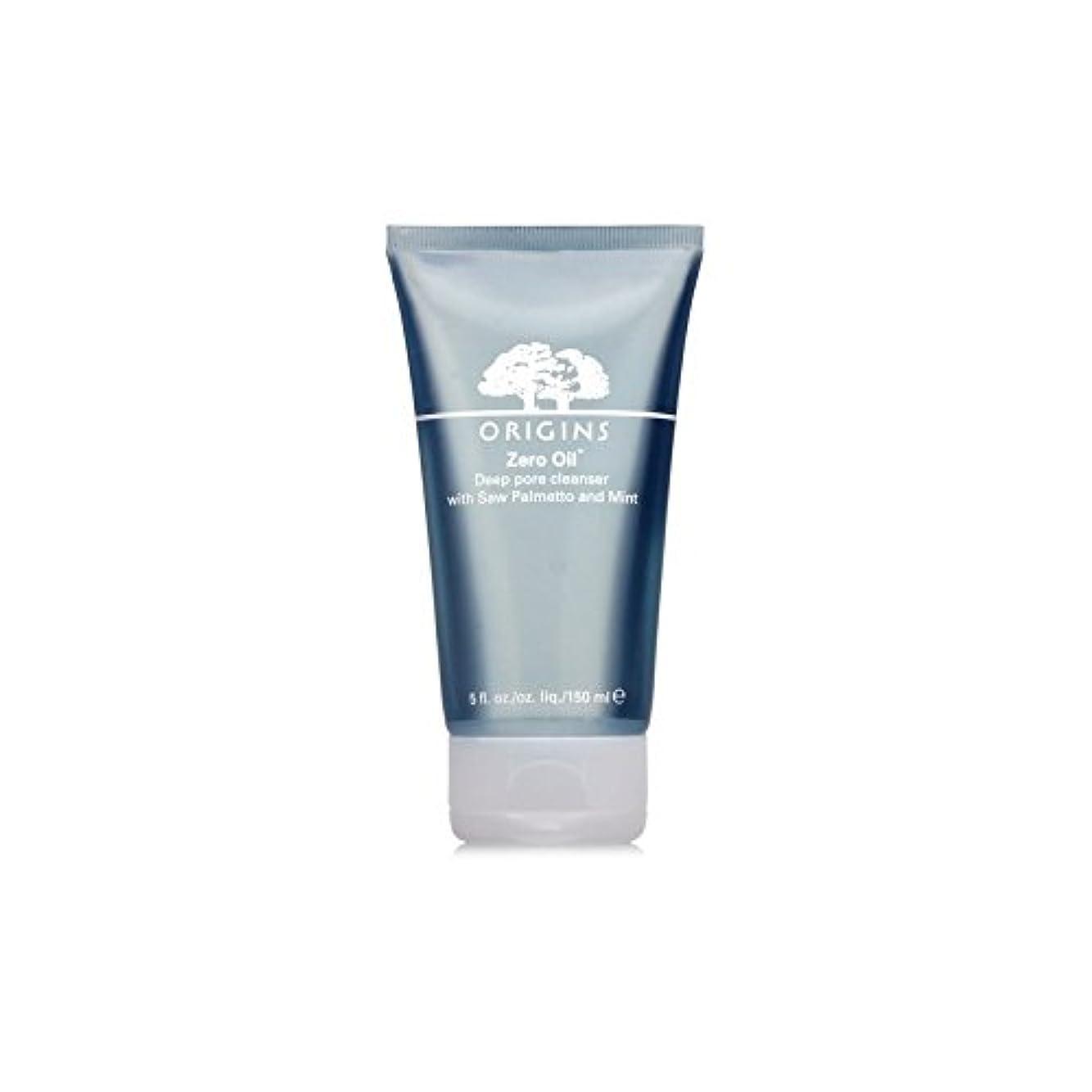ハンディ骨髄キノコOrigins Zero Oil Deep Pore Cleanser With Saw Palmetto & Mint 150ml (Pack of 6) - ノコギリヤシ&ミント150ミリリットルとの起源ゼロ油深いポアクレンザー...