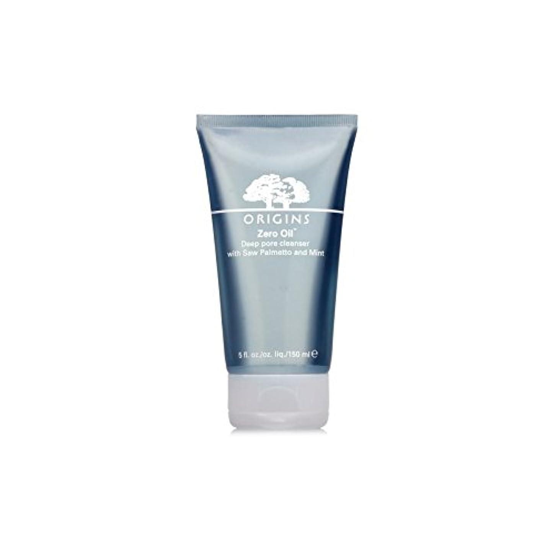 効能あるカートンレルムOrigins Zero Oil Deep Pore Cleanser With Saw Palmetto & Mint 150ml (Pack of 6) - ノコギリヤシ&ミント150ミリリットルとの起源ゼロ油深いポアクレンザー...