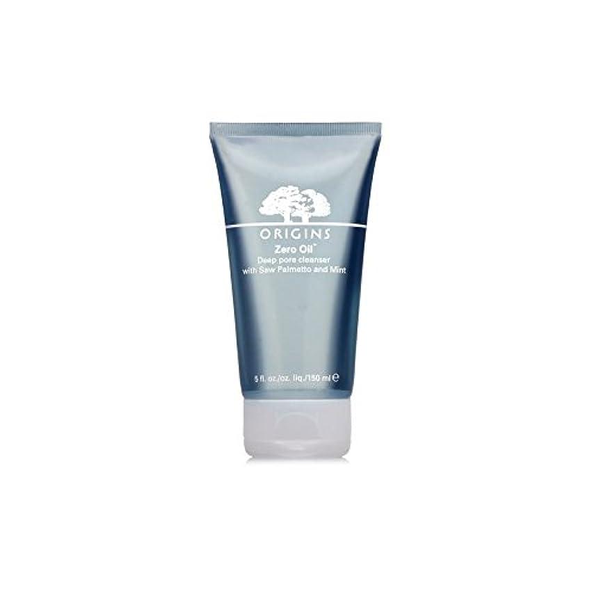 手つかずの臭いタールOrigins Zero Oil Deep Pore Cleanser With Saw Palmetto & Mint 150ml - ノコギリヤシ&ミント150ミリリットルとの起源ゼロ油深いポアクレンザー [並行輸入品]