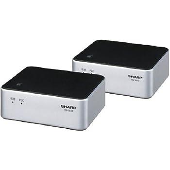 SHARP PLC(高速電力線通信)アダプター LAN1ポート+LAN1ポートタイプ 初期設定済ペアモデル HN-VA10S