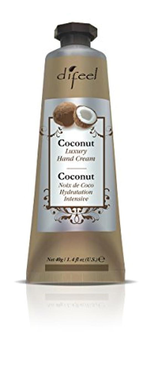 処理唯一寛解Difeel(ディフィール) ココナッツ ナチュラル ハンドクリーム 40g COCONUT 11COCn New York