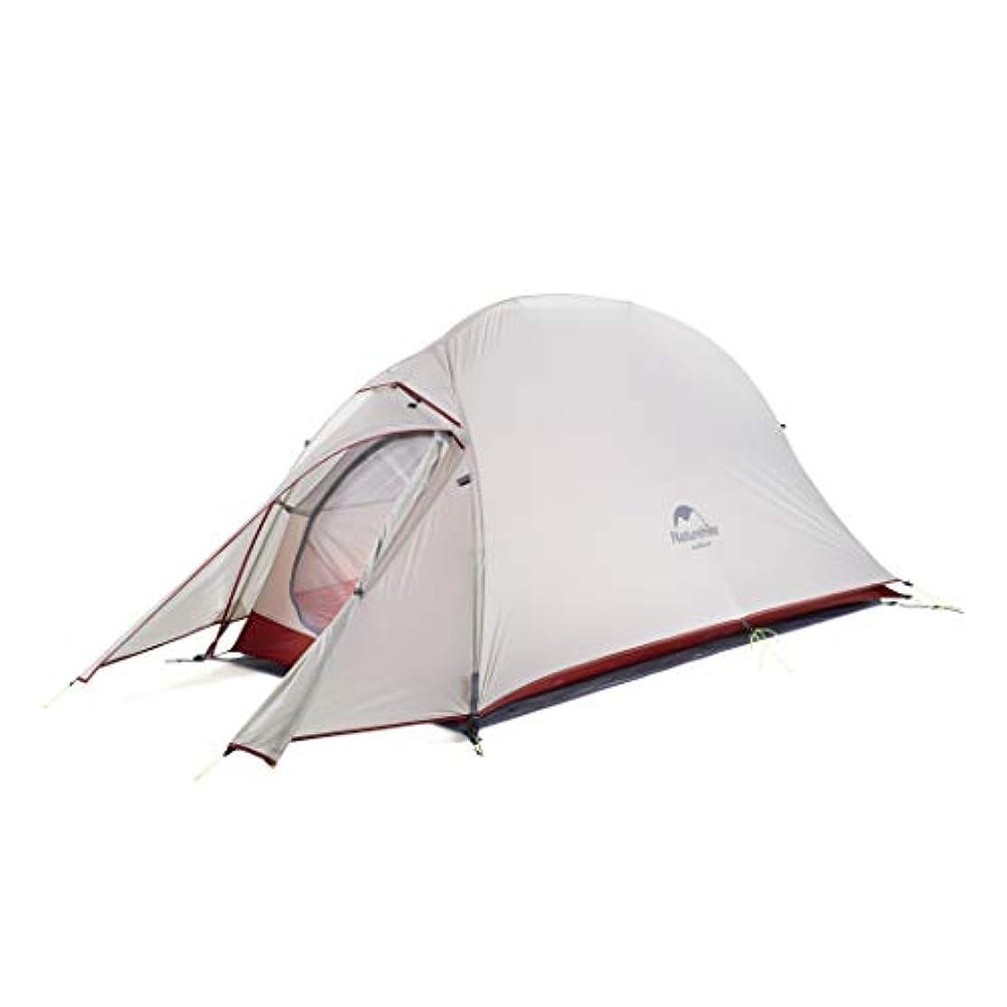 蛇行闇さわやかNaturehike公式ショップ テント 1人用 アウトドア 二重層 超軽量 4シーズン 防風防水 PU4000 キャンピング プロフェッショナルテント(専用グランドシート付)