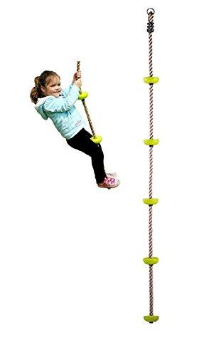 RoomClip商品情報 - COMINGFIT® 五つノート 室内 外遊び アウトドア 登山 登り用練習 子供ノットロープ クライミングロープ (グリーン)