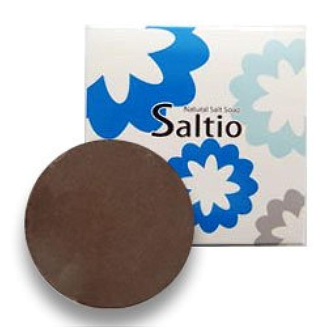 懸念普遍的な王位無添加 石鹸 Saltio ソルティオ 泡立てネット 付き ( 洗顔?浴用 石けん ) 80g  / デオドラント