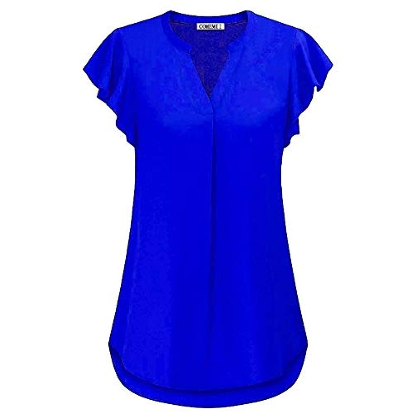 限りなく週末論争の的MIFAN女性ブラウス、シフォンブラウス、カジュアルTシャツ、ゆったりしたTシャツ、夏用トップス、シフォンシャツ、半袖、プラスサイズのファッション