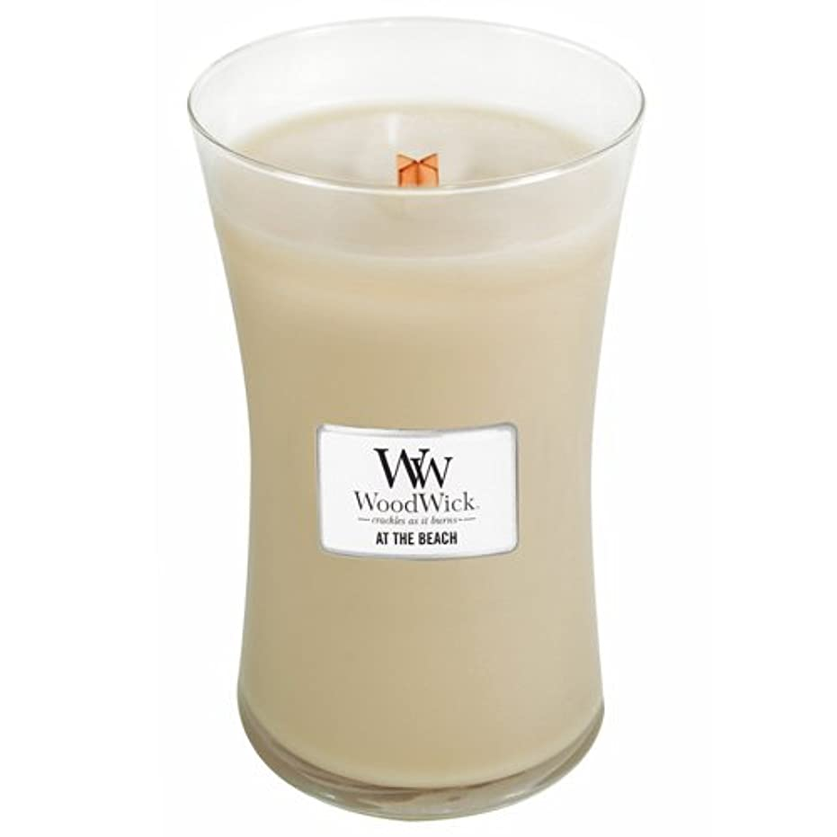 ナサニエル区ドライ含めるWoodWick Candle At The Beach 22oz by Woodwick