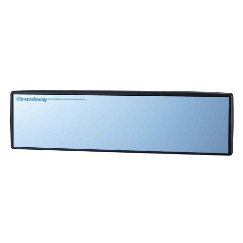 ナポレックス ルームミラーブルー鏡 300mm 平面鏡 ドイツFLABEG社の高性能光学式防眩ミラー 紫外線もカット Broadwayシリーズ ワイドミラー 汎用 BW-156