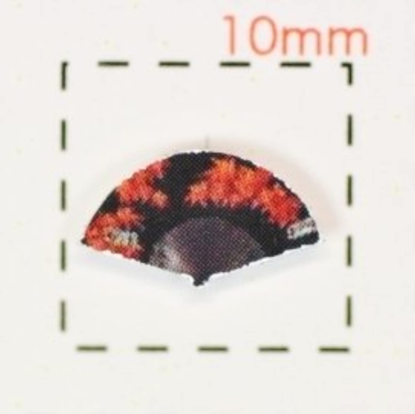 たまにスタック地中海扇子【和風(お正月?成人式)ネイルシール】(赤と黒)/1シート9枚入