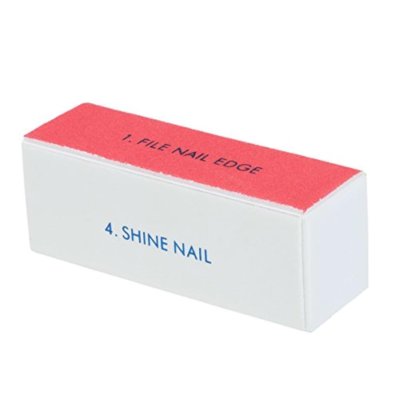 乳剤入場料利用可能Goshang ブロックバッファー 爪やすり 爪磨き 4面ブロックバッファー ネイルシャイン ネイルケア