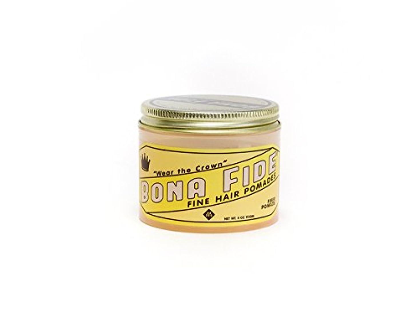 非アクティブ節約するマーケティングBona Fide Pomade, ファイバーポマード 4oz (113g) , 水性ポマード/ヘアグリース (整髪料)