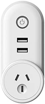 MONEIL WIFI Smart plug Socket Outlet with 2 USB Charging Port (5V 2.1A),| Compact & Easy To Use | Turn on/