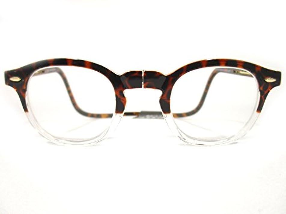 首に掛けられる 老眼鏡 クリックヴィンテージ Clic Readers クリックリーダー (+2.50, トートイス/クリア)