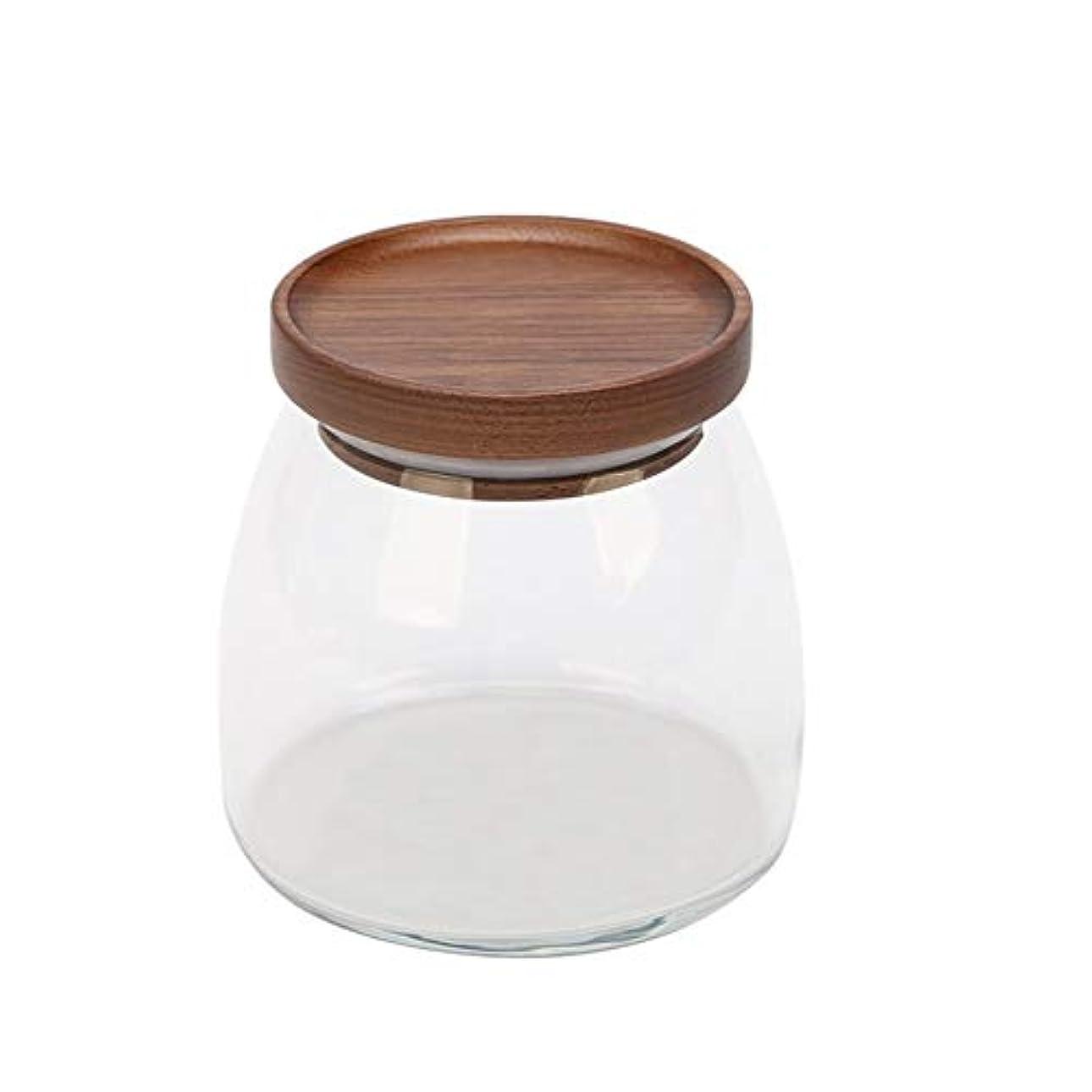 ダブル発送空洞貯蔵タンク、透明ガラス貯蔵タンク、家庭用食品、茶瓶