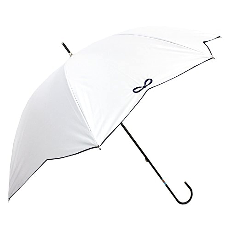[晴雨兼用ショート] 4駒リボンスカラ刺繍スレンダー 50cm 晴雨兼用パラソル