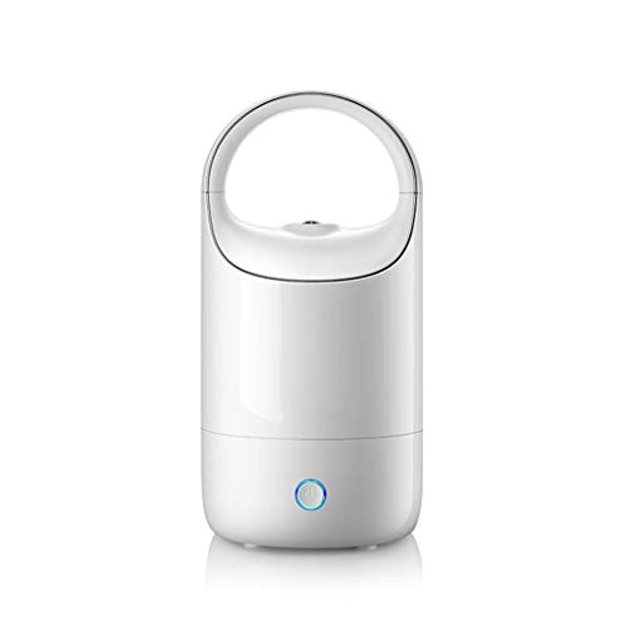 虐殺スイング製作空気加湿器ホームサイレント寝室妊婦赤ちゃん空気霧大容量ディフューザー (Color : White)