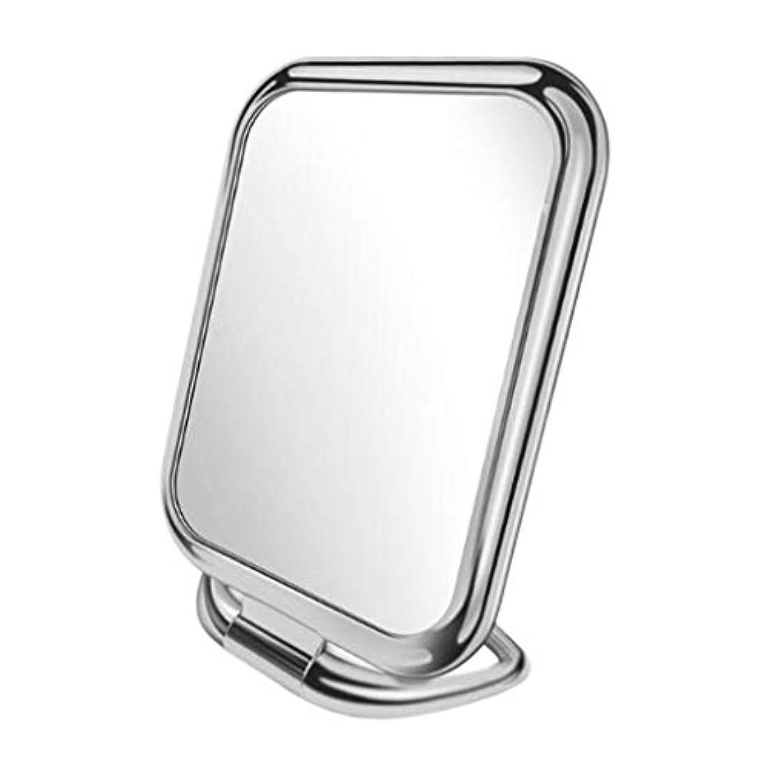 黒人カストディアン白鳥化粧鏡 化粧ミラー 鏡 両面鏡 卓上 女優 拡大鏡 3倍 折りたたみ 角度調整可能 収納便利 全9種類 - スライバースクエア