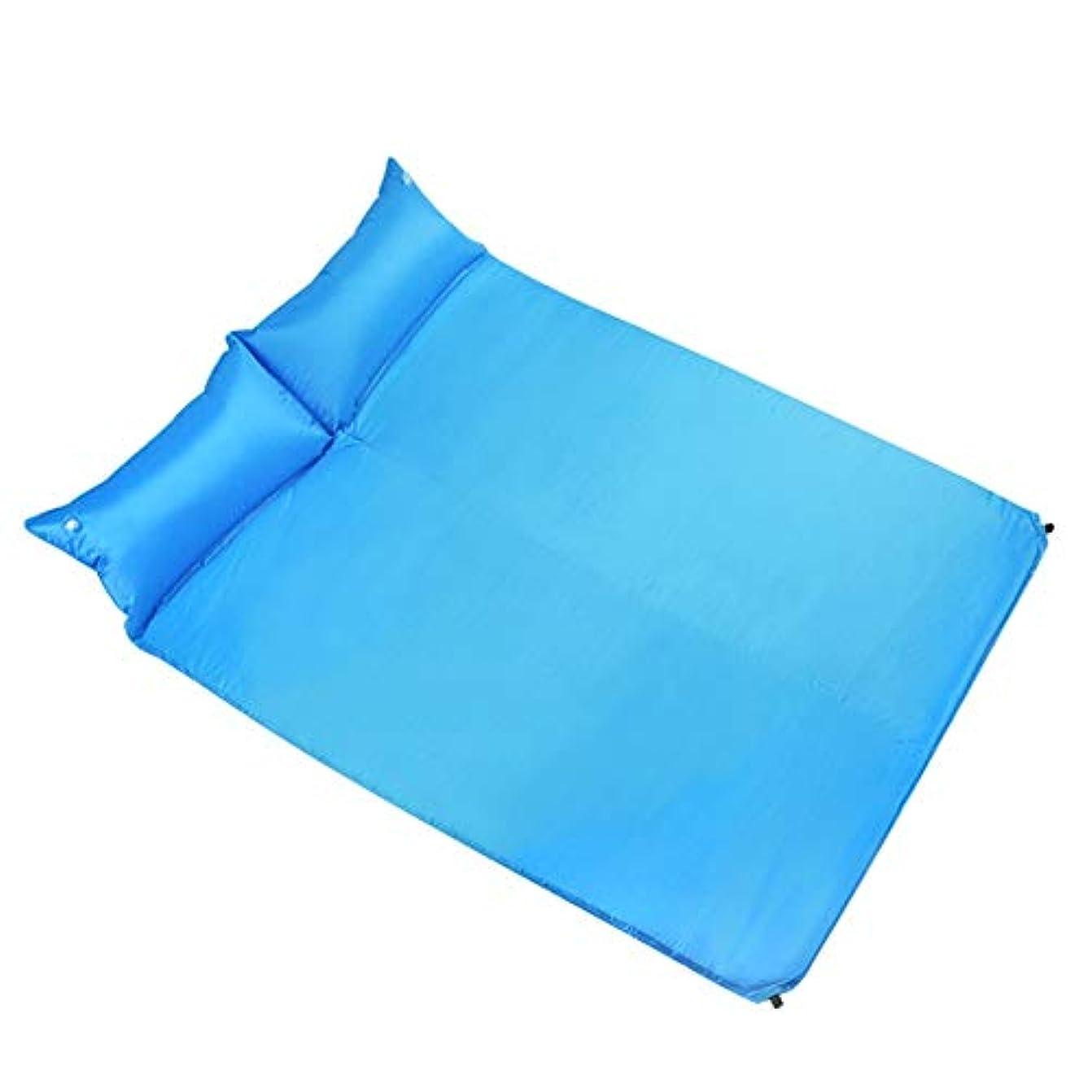 品種病者試みるTLMYDD スリーピングマット屋外テントスリーピングマット水分パッド自動インフレータブルクッション拡幅キャンプキャンプ 寝袋 (Color : Blue)