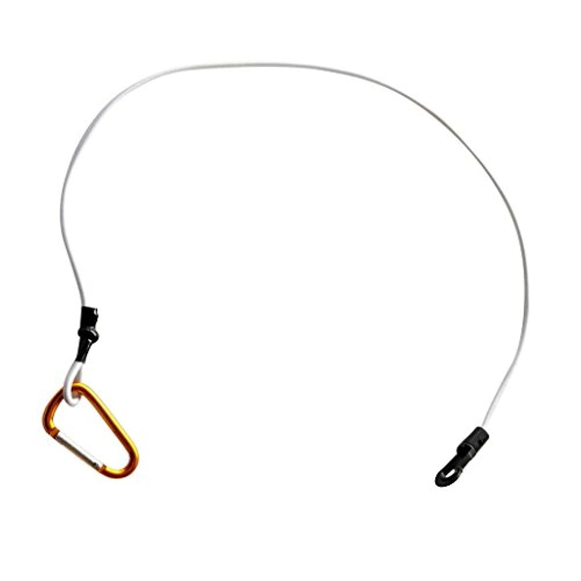 タイマー優越納税者Perfk カヤック ヨット パドルリーシュ 安全リーシュ 釣竿ストラップ コイル ロープ コード