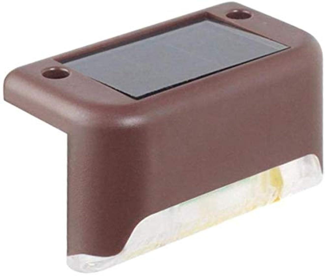 寄り添うバッテリー悲鳴クールリング太陽の細道ライト屋外防水LED街路灯、カラー:ブラック(B) (Color : Brown (A))