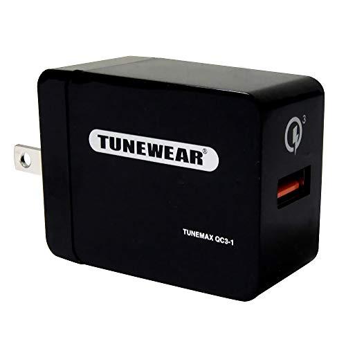 TUNEMAX 急速充電小型アダプタ QC3-1 Qualcomm認証 TUN-IP-200104