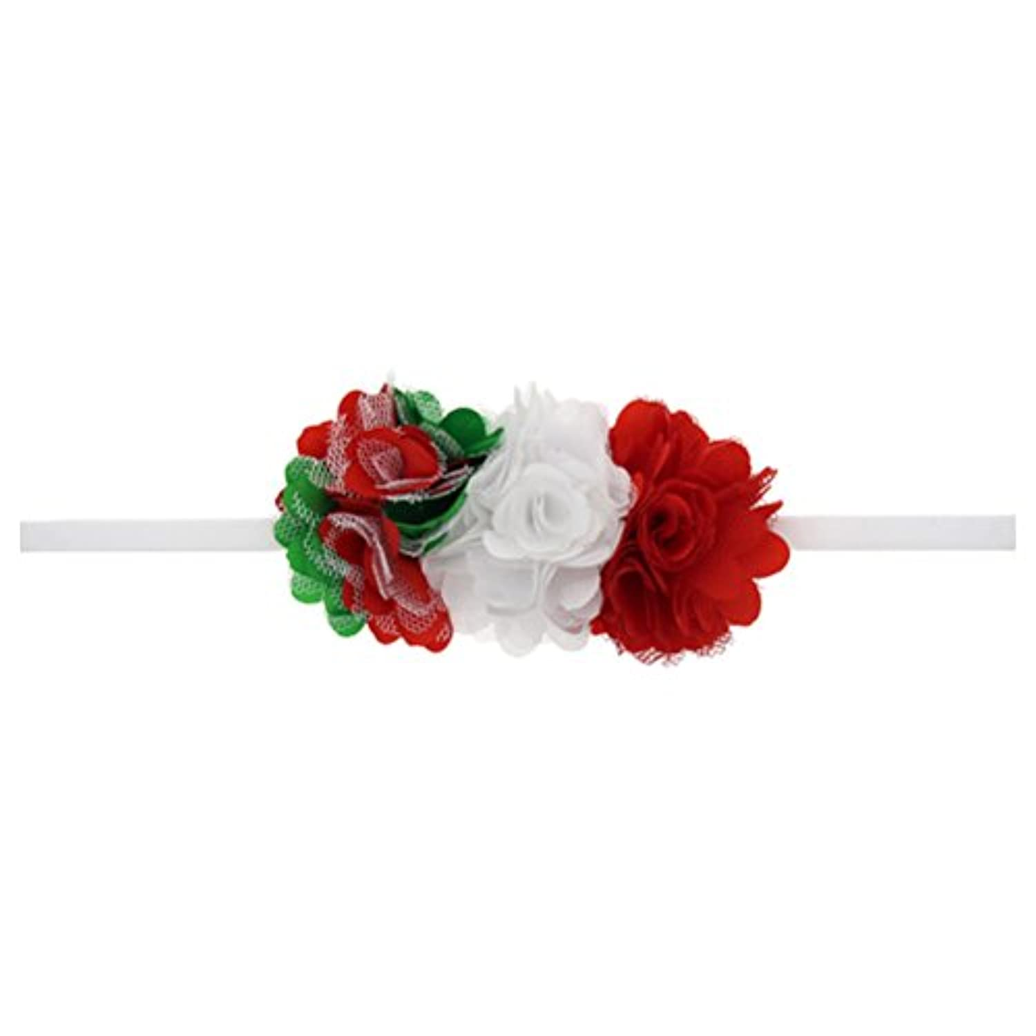 Zhhlinyuan ベビー小物 Kids Baby Girls Flower ヘアアクセサリ Toddler Christmas/Photography Pops/Costume/Party Lace Silk Flowers Headband Hairband
