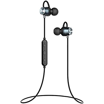 Mpow Bluetooth イヤホン ブルートゥース ヘッドホン ワイヤレス マグネット搭載 スポーツ ヘッドセット IPX6防水規格 6時間連続再生可能 内蔵マイク搭載 iPhone、Android各種対応