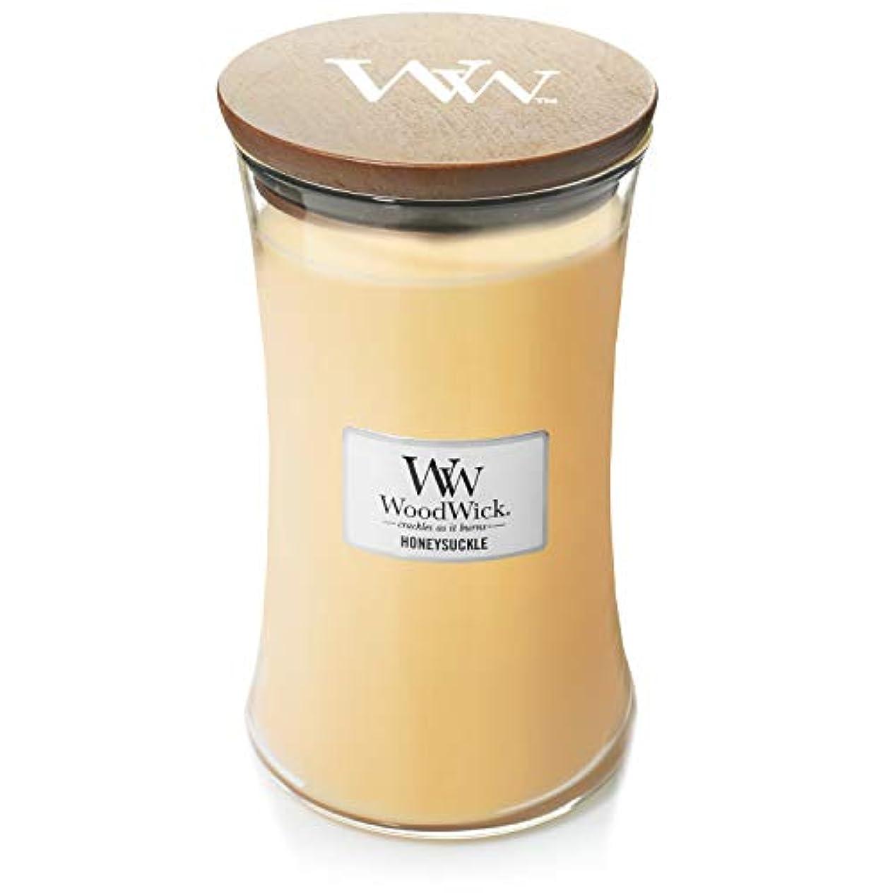 冷笑するパラメータカエルWoodwick Candle 22オンス – Honeysuckle