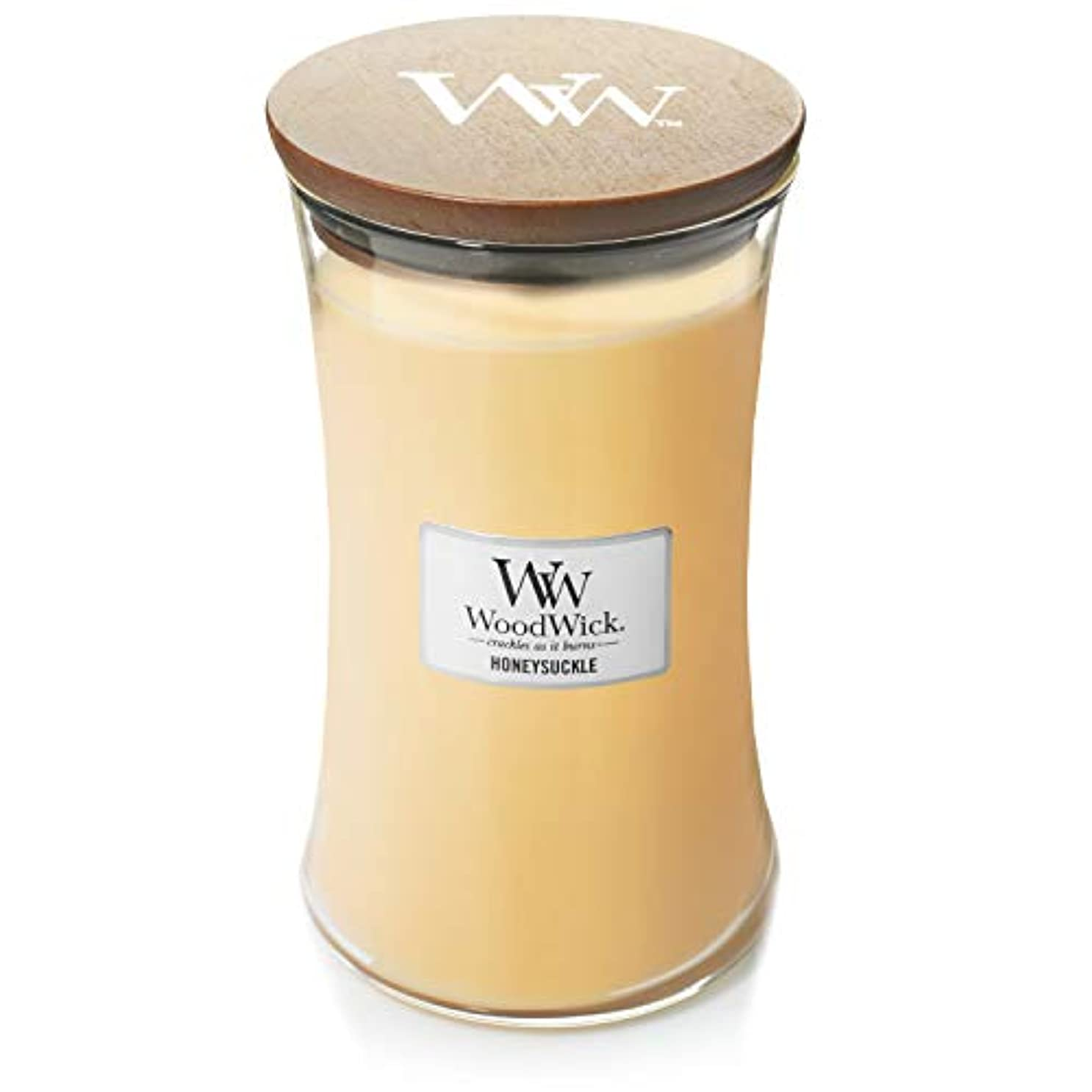 最大のユーモア細菌Woodwick Candle 22オンス – Honeysuckle