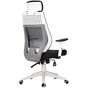 Hbada ハイバック S字カーブ オフィスチェア 人間工学 デスクチェア メッシュ 7段階アームレスト 腰ランバーサポート 無段階 120度ロッキング 通気性 PUキャスター