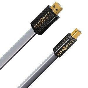 ワイヤーワールド オーディオグレードUSBケーブル(0.3m)【A】タイプと【B】タイプPLATINUM STARLIGHT USB PSB/0.3
