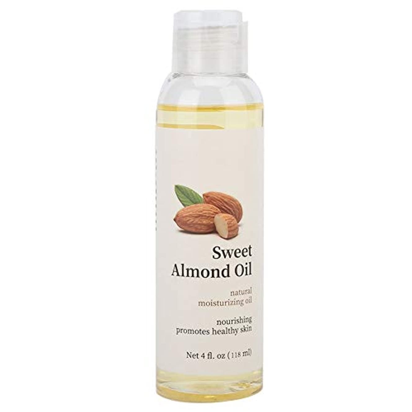 幸福緯度知り合いアーモンド ボディマッサージオイル、スキンケアエッセンシャルオイル保湿 スキンケアとヘアケアに最適、肌と顔の柔らかさ、男性と女性の両方に最適118ml