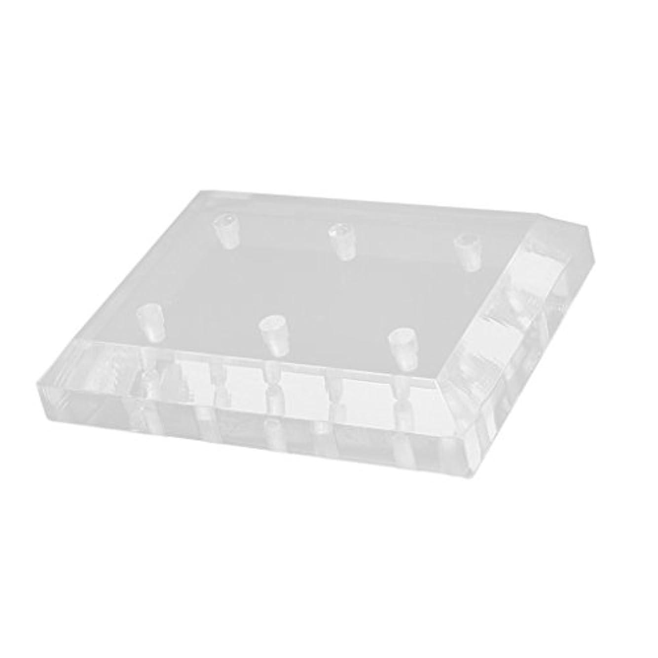 面積白雪姫一般的に言えばDYNWAVE ネイル ドリルビットスタンド ホルダー 6穴 クリア アクリル 整理 収納 用品