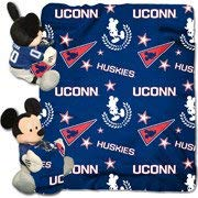 The Northwest Company NCAA Connecticut Huskies Dis-Col Hugger W/ 40X50 Fleece Throw Blanket One Size Blue [並行輸入品]