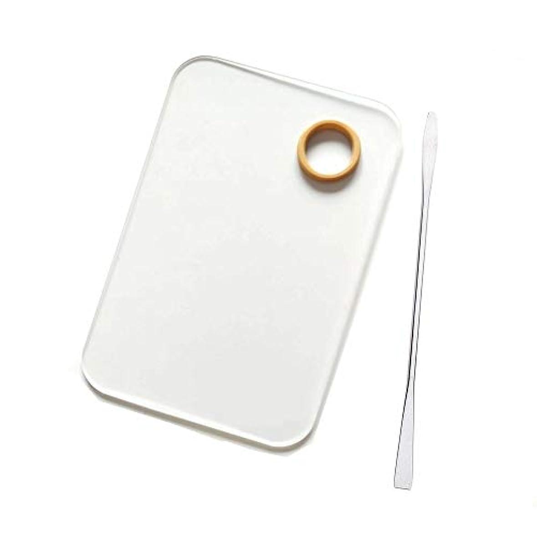 日焼け対立苦味Cikoume 透明パレット プラスチック化粧パレット メイクさん用 パレット リキッドファンデーション ネイル カラー パレット 化粧品ツール スパレット棒付き ステンレス