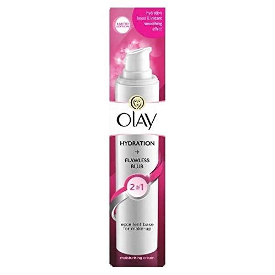広範囲にシャッター民間[Olay ] オーレイの2In1水和+完璧なぼかし保湿クリーム50ミリリットル - Olay 2in1 Hydration + Flawless Blur Moisturiser Cream 50ml [並行輸入品]