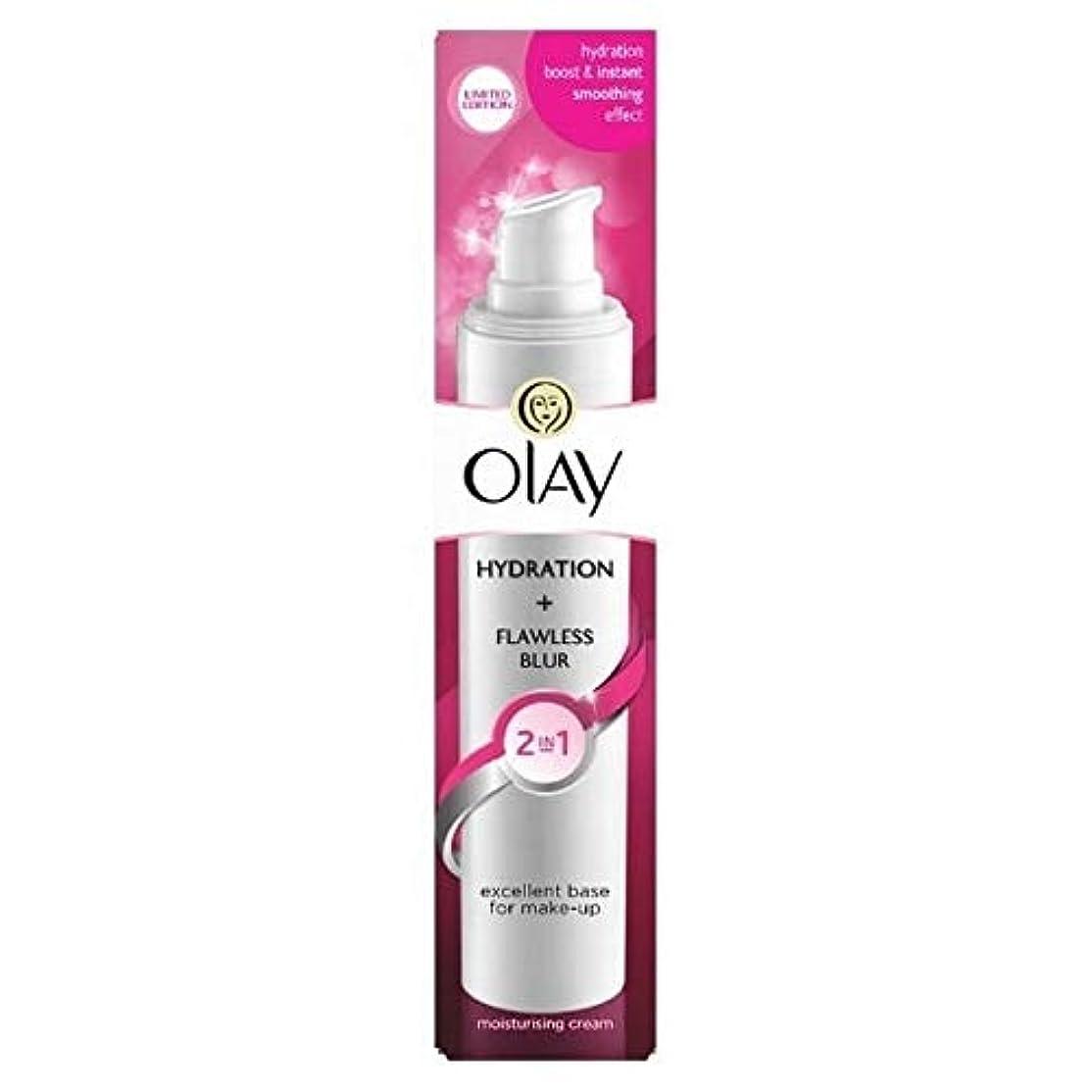 上陸知恵医薬品[Olay ] オーレイの2In1水和+完璧なぼかし保湿クリーム50ミリリットル - Olay 2in1 Hydration + Flawless Blur Moisturiser Cream 50ml [並行輸入品]