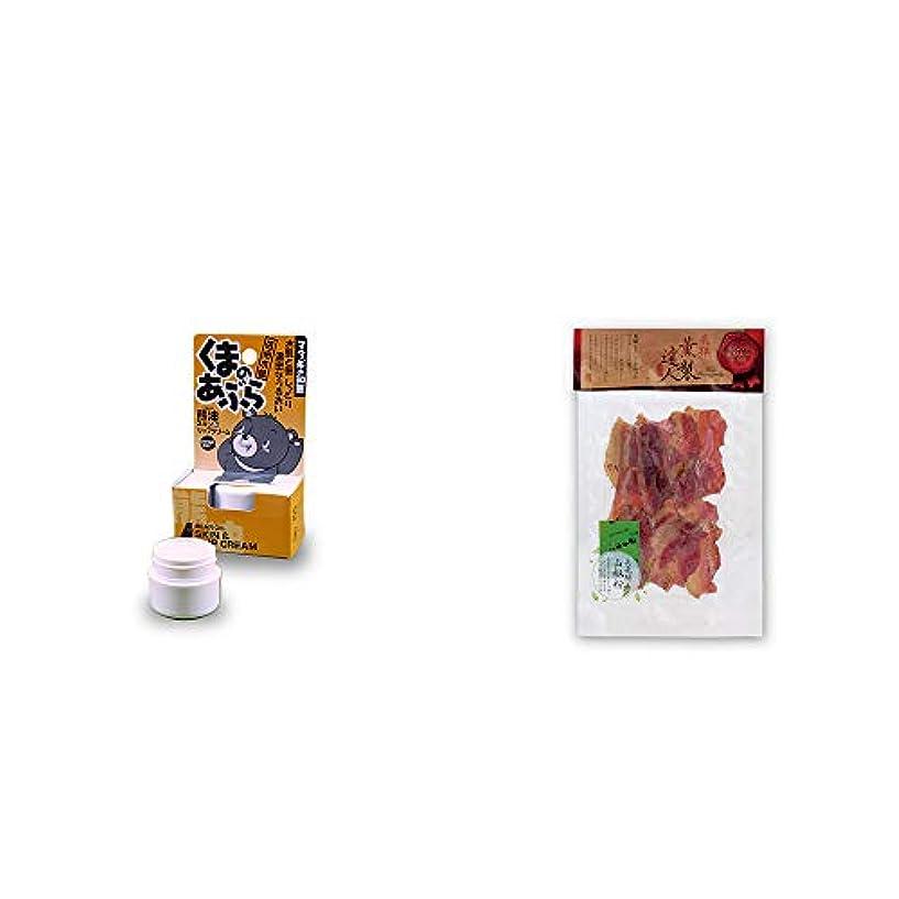 うねる肺炎熱心[2点セット] 信州木曽 くまのあぶら 熊油スキン&リップクリーム(9g)?薫製達人 豚バラベーコン燻製(60g)[飛騨山椒付き]