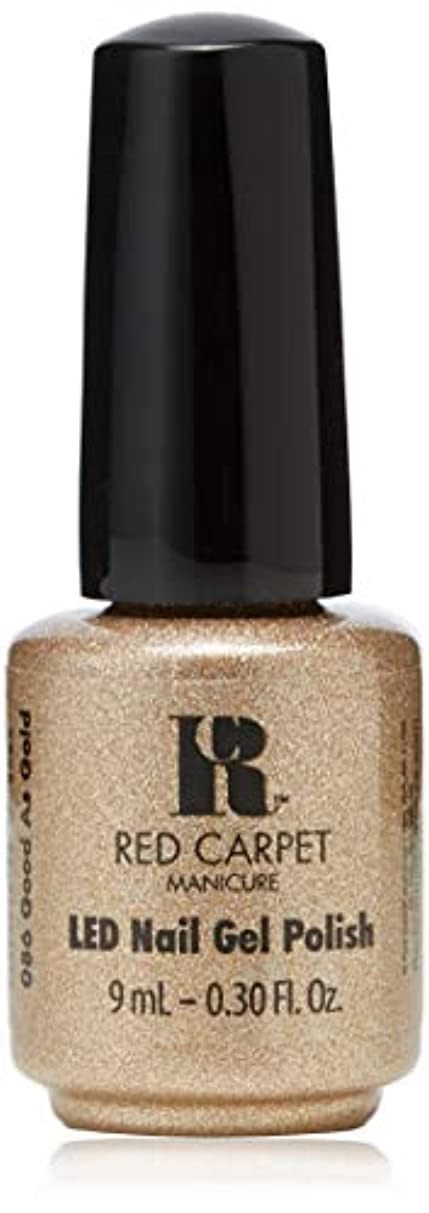 講堂段落と闘うRed Carpet Manicure - LED Nail Gel Polish - Good as Gold - 0.3oz/9ml