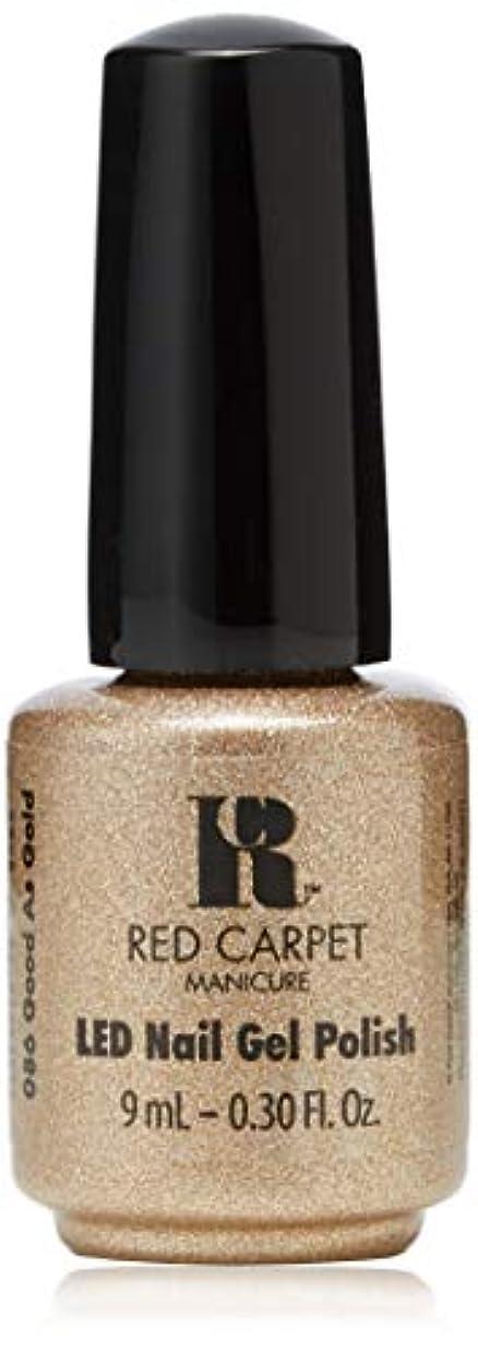湿原消す暖かくRed Carpet Manicure - LED Nail Gel Polish - Good as Gold - 0.3oz/9ml