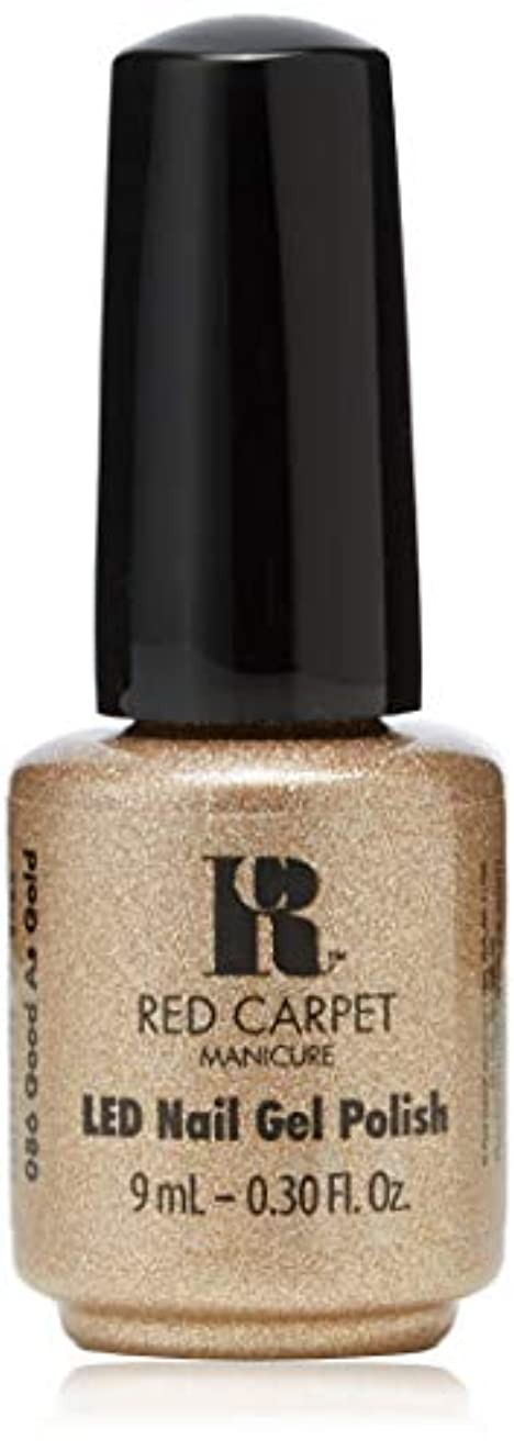 省略ステートメントアラビア語Red Carpet Manicure - LED Nail Gel Polish - Good as Gold - 0.3oz/9ml