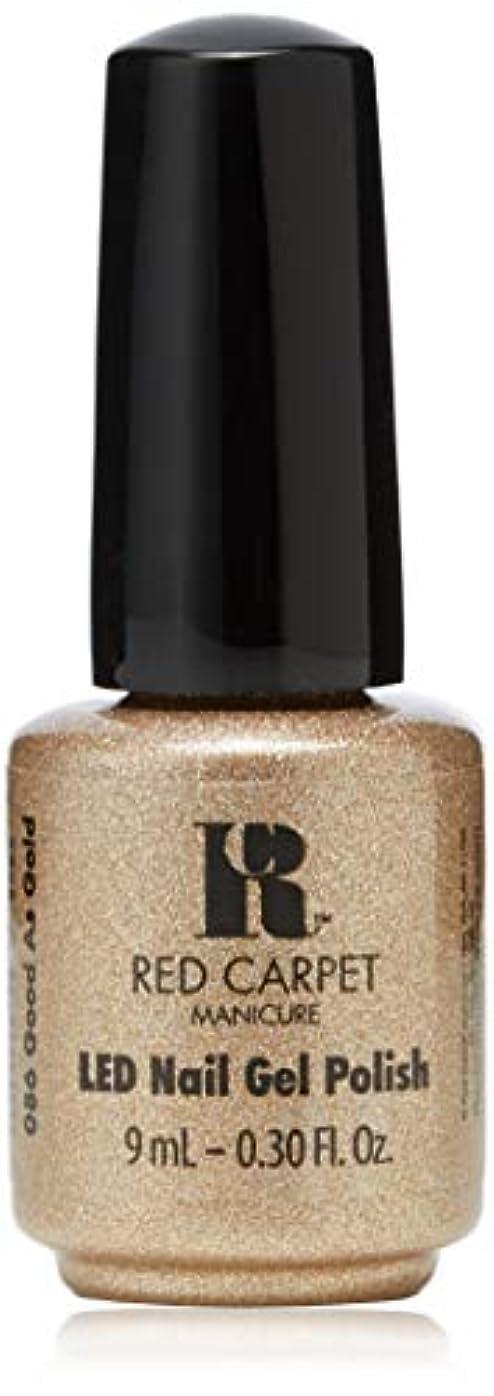 ご注意持続的闘争Red Carpet Manicure - LED Nail Gel Polish - Good as Gold - 0.3oz/9ml